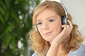 Young girl listening to music Royalty Free Stock Photo