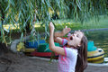 Young Girl in Park Royalty Free Stock Photo