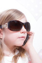 Young girl on the phone Royalty Free Stock Photo