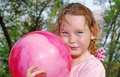 Young girl playing ball Royalty Free Stock Image