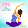 Young girl practicing yoga. Healthy lifestyle and sports theme Royalty Free Stock Photo