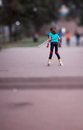 Young girl on roller blades Royalty Free Stock Photo