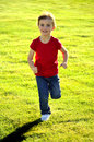 Young Girl Running Stock Photography