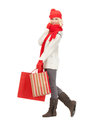 Young girl with shopping bags picture of Stock Image