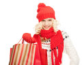 Young girl with shopping bags picture of Stock Photo