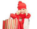 Young girl with shopping bags picture of Royalty Free Stock Images