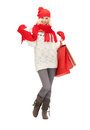 Young girl with shopping bags picture of Royalty Free Stock Photo