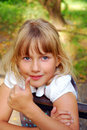 Young girl showing OK sign Royalty Free Stock Image