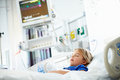 Young Girl Sleeping In Intensive Care Unit Royalty Free Stock Photo