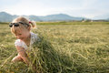 Young Girl On Summer Meadow Royalty Free Stock Photo