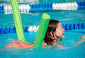 Young Girl at Swimming Lesson Royalty Free Stock Photography