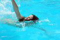 Young girl swimming pool Royalty Free Stock Photo