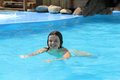 Young girl swimming pool Royalty Free Stock Images