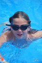 Young girl in swimming pool Royalty Free Stock Photo