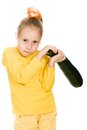 Young girl swinging squash head over Royalty Free Stock Photo