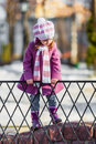 Young girl walking in the park spring day shallow dof Royalty Free Stock Photography