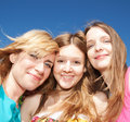 Young girls express positivity Royalty Free Stock Photography