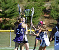 Young Girls Lacrosse Players Royalty Free Stock Photo