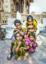 Young girls pose proudly at jodhpur india october hindu the street market in jodhpur rajasthan india the population of rajasthan Stock Image