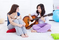 Young girls relaxing and talking Royalty Free Stock Photo