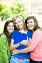 Young girls smiling Stock Image
