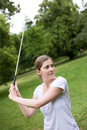 Young golfer Royalty Free Stock Photo