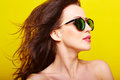 Young gorgeous caucasian woman wearing sunglasses Royalty Free Stock Photo
