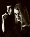 Young gothic women Royalty Free Stock Images