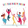 Let the party begin Group of people are having fun Royalty Free Stock Photo