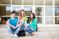 Young group of students in campus school Royalty Free Stock Image