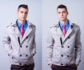 Young handsome fashion model Royalty Free Stock Image
