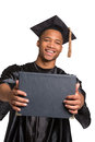 Young Happy African American Male Graduate Student Royalty Free Stock Photo