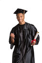 Young Happy African American Male Graduate Student Stock Photo