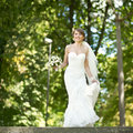 Young happy bride jumping summertime picture Stock Images