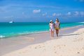 Young happy couple have fun on carribean vacation summer tropical Stock Image