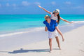 Young happy couple have fun on summer vacation tropical Royalty Free Stock Image