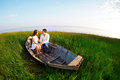 Young happy couple in love. Outdoors portrait Royalty Free Stock Photo