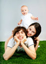 Young happy family with a child Royalty Free Stock Photo