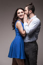 Young happy smiling attractive couple Royalty Free Stock Photo