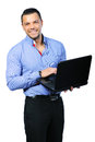 Happy smiling man with notebook Royalty Free Stock Photo