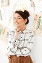 Young happy woman fashion illustrator