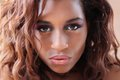 Young hispanic black woman a sultry pout Royalty Free Stock Photo