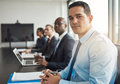 Young Hispanic businessman in a meeting Royalty Free Stock Photo