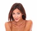 Young hispanic woman smiling at camera Royalty Free Stock Photo