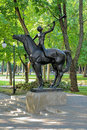 Young horner sculpture in voronezh russia the children s park eaglet Royalty Free Stock Photography