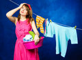 Young housewife Stock Image