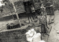 Young Indian children in a poor rural village in India Royalty Free Stock Photo