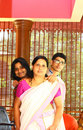 Young Indian Family - Mother, Daughter and Son