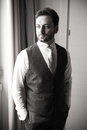 Young Italian groom before marriage Royalty Free Stock Photo