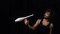 Young juggler at the circus Royalty Free Stock Photo